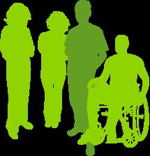 Bild von gezeichneten Leuten in der Gruppe 3