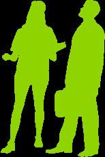 Bild von gezeichneten Leuten in der Gruppe 5