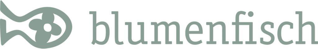 CMYK_Blumenfisch_Grau_Logo