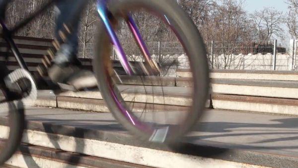 Marko Bär auf dem BMX-Rad